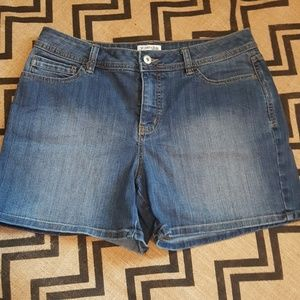 St. John's bay denim jean short size 12